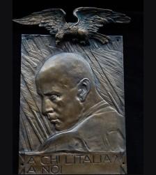 Benito Mussolini Bronze Plaque- Giannino Castiglioni