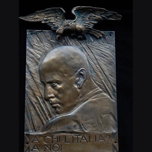 Benito Mussolini Bronze Plaque- Giannino Castiglioni  # 3291