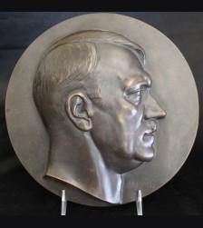 Adolf Hitler Bronze Plaque- ( H.J Pagels ) # 3284