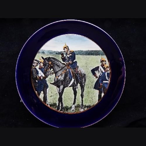 Kaiser Wilhelm II Porcelain Plate~ Manuevers  # 3122