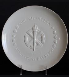 Allach Porcelain Himmler Presentation Juhlfest Plate 1942