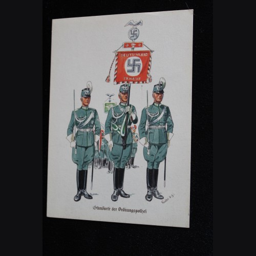 Deutsches Polizei Postcard Series of the Ordnungspolizei- Card 1  # 3306