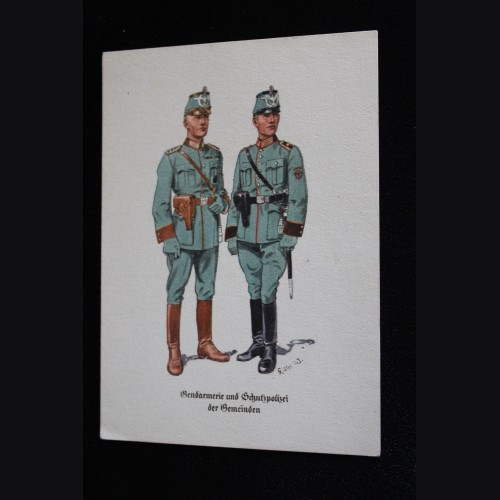 Deutsches Polizei Postcard Series Of The Ordnungspolizei- Card 4 # 3309