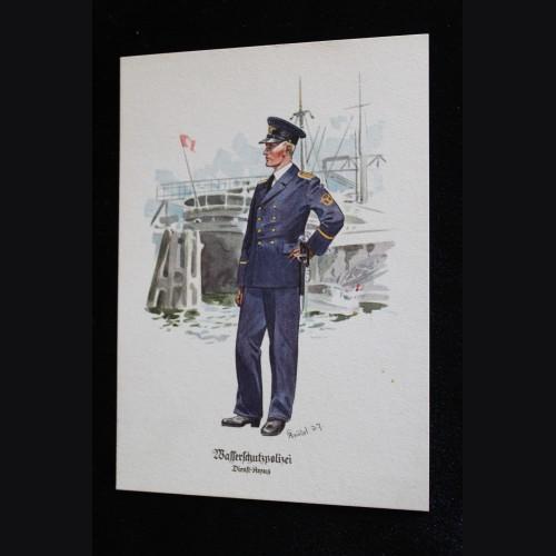 Deutsches Polizei Postcard Series Of The Ordnungspolizei- Card 5