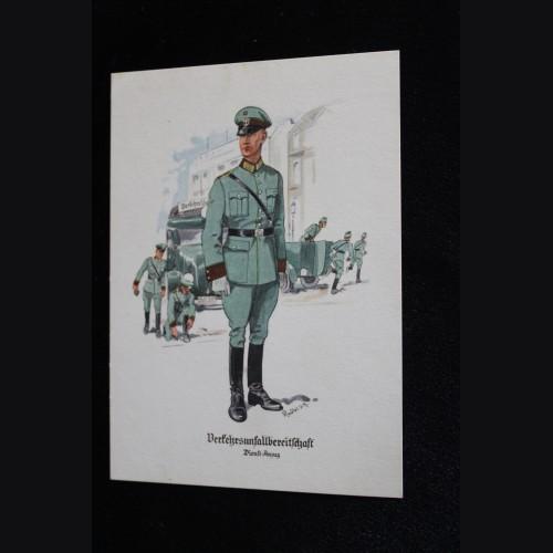 Deutsches Polizei Postcard Series Of The Ordnungspolizei- Card 9 # 3313