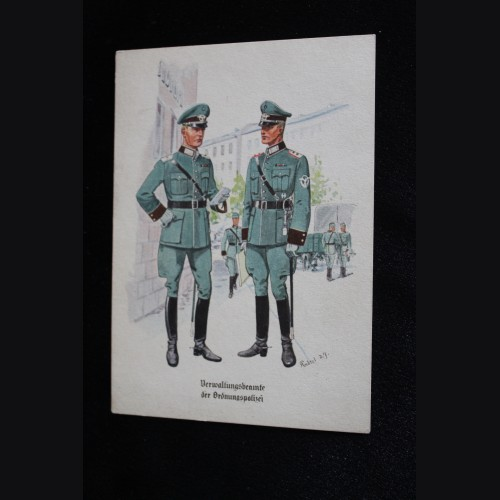 Deutsches Polizei Postcard Series Of The Ordnungspolizei- Card 13 # 3316