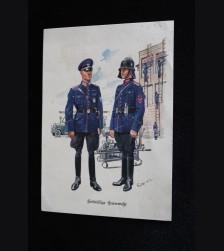 Deutsches Polizei Postcard Series Of The Ordnungspolizei- Card 15 # 3317