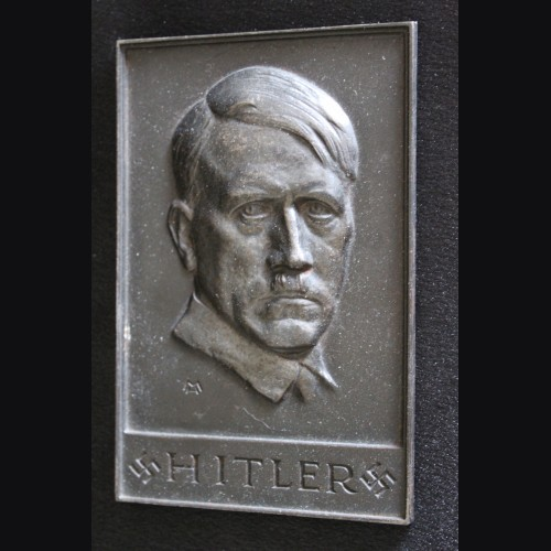 Adolf Hitler Cast Iron Plaque  # 3319