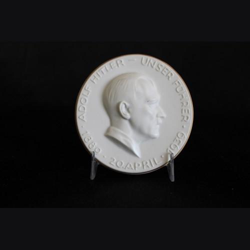 Adolf Hitler Porcelain Table Medal- KPM # 3323