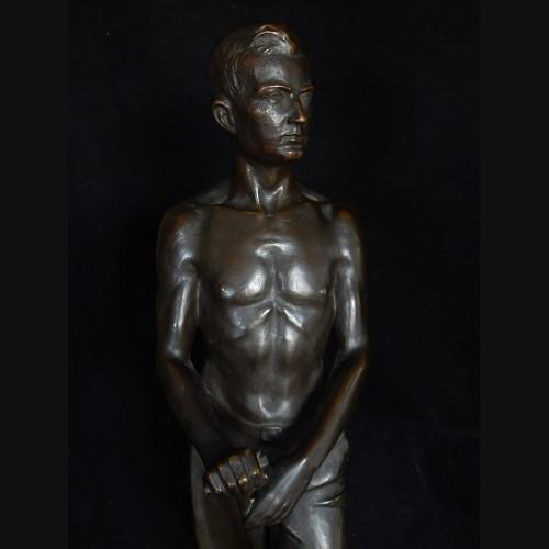 Bronze Standing Rad Man- ( Otto Glenz )