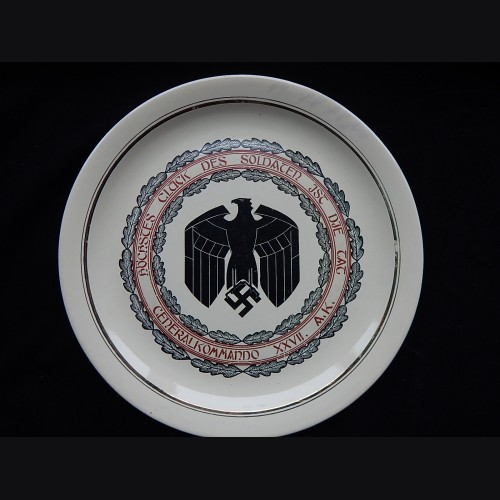 German Army XXVII Armeekorps Commemorative Ceramic Plate # 3325