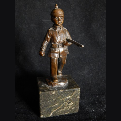 Bronze German Boy Soldier with Pickelhaube  # 3327