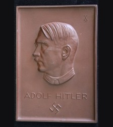 Adolf Hitler Relief Plaque- Rare Variant