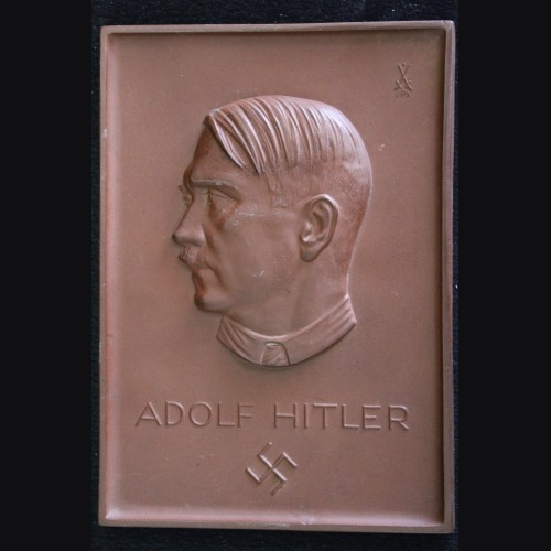 Adolf Hitler Relief Plaque- Rare Variant # 3331