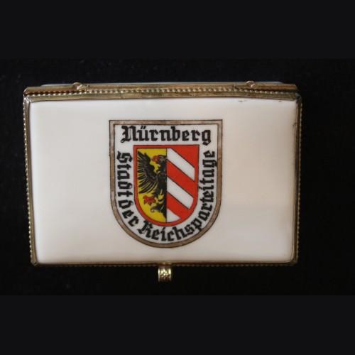 Nuremberg Reichsparteitage Porcelain Trinket Box.  # 3334