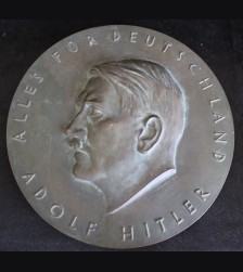 Alles für Deutschland Bronze Hitler Plaque- ( Kuhnel ) # 3345