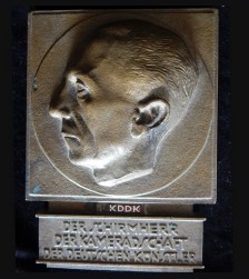 Goebbels Profile Relief Honor Prize Plaque  # 3326