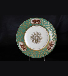 Hermann Goring Hunting Pattern Dinner Plate- Sevres # 3351