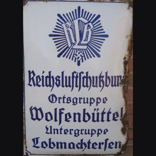 Third Reich Enamel Sign for the RLB # 3370