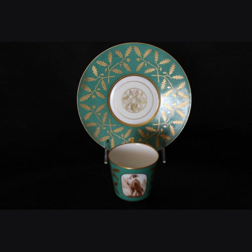 Hermann Goring Hunting Pattern Cup and Saucer- Sevres # 3375