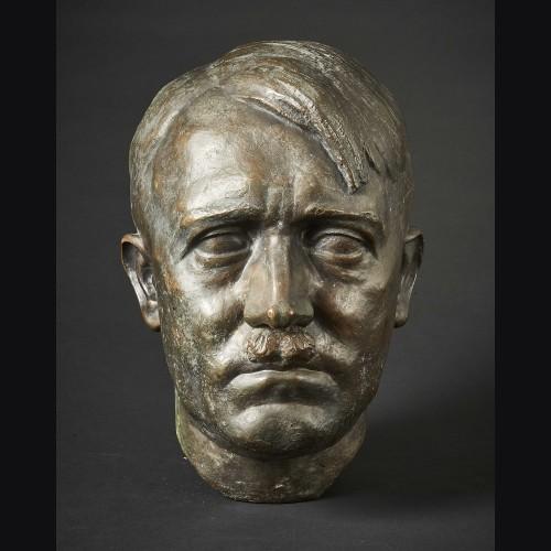 Adolf Hitler Bronze Bust ( T.H Linz ) # 3378