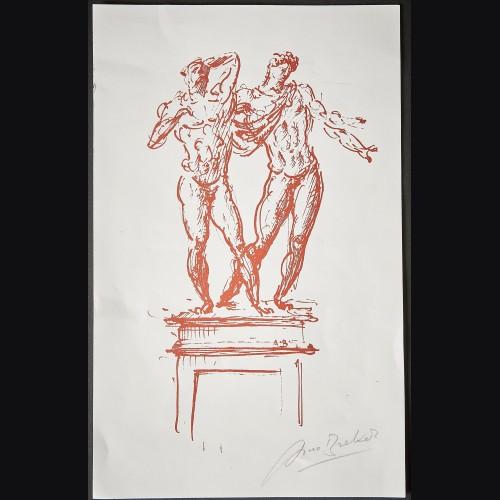 Arno Breker Autographed Paper Art