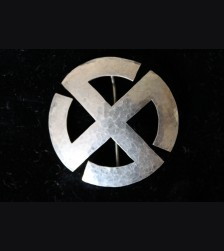 National Socialist Sun Wheel Swastika Brooch
