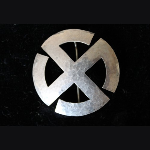 National Socialist Sun Wheel Swastika Brooch # 3382