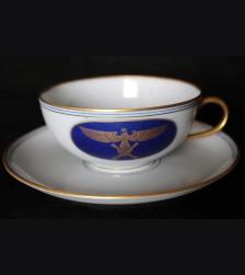 Hermann Goring Reichmarshall Pattern Cup And Saucer- Richard Ginori # 3381