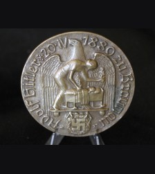 Non Portable Commemorative Adolf Hitler Birth Medal To Alois Hitler, Klara Pölzl  # 3386