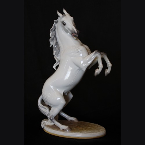 Allach Porcelain #95 Rearing Stallion in Color # 3391