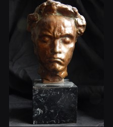 Ludwig von Beethoven in Bronze- Arno Breker Signed Certification # 3396