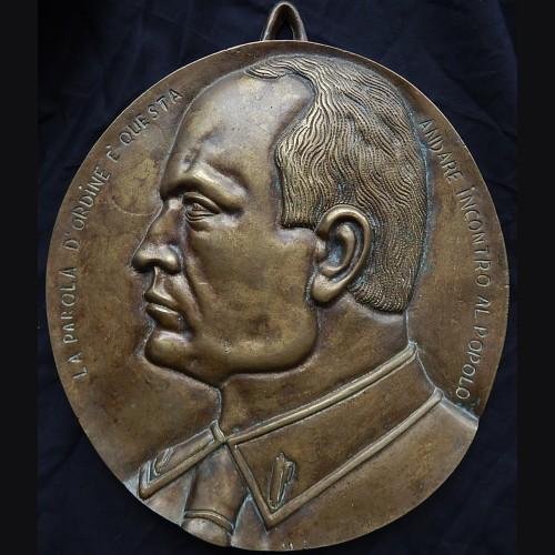Benito Mussolini Bronze Plaque # 3397