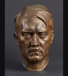 Adolf Hitler Bronze Bust- ( Ferdinand Liebermann ) # 3399