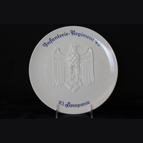 Infantry Regiment Porcelain Plate # 3402