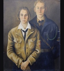Hitler Youth Oil Painting- Werner Peiner (1897-1984)