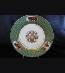 Hermann Goring Hunting Pattern Dinner Plate- Sevres # 3408