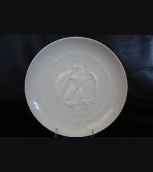 Allach Porcelain 1943 Juhlfest Plate- Himmler Presentation # 3409