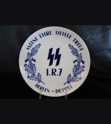 Meissen SS Regimental Plate- Reiterstandarten Berlin # 3412