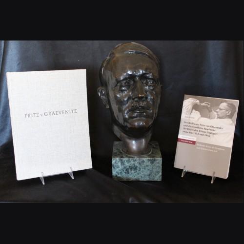 Rare Adolf Hitler Bronze Bust- Fritz von Graevnitz (1892-1959) # 3418