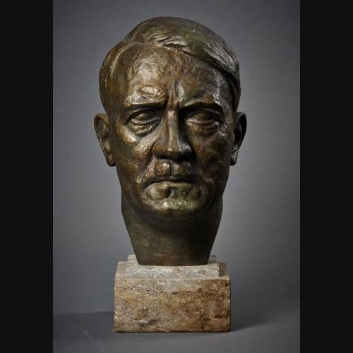Adolf Hitler Bronze Bust- Alfred Keller (1902–1955) # 3419