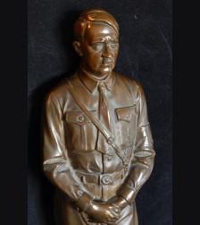 """Rare 18"""" Standing Bronze Hitler 1933- P.H Kittler (1861-1944)"""