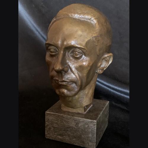 Dr. Joseph Goebbels Bronze Bust- August Kranz  # 3421