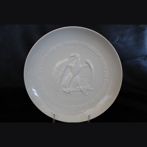Allach Porcelain 1943 Julfest Plate- Himmler Presentation # 3426