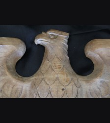 Large Early Hand Carved Oak Reich Adler