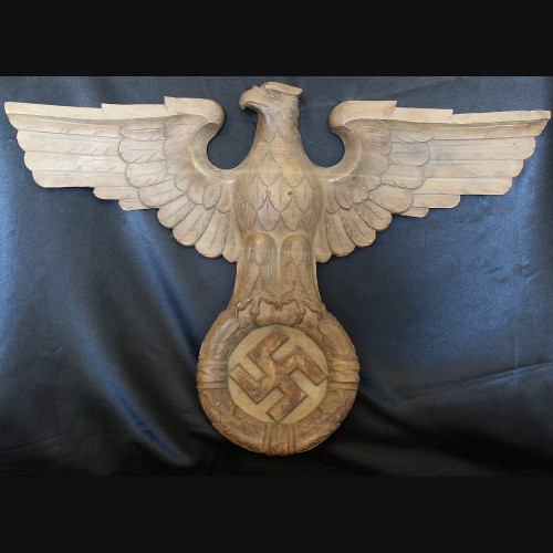 Large Early Hand Carved Oak Reich Adler # 3427