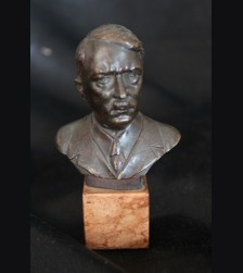 Adolf Hitler Desk Bust Cast In Bronze- J.J Riedel # 3433