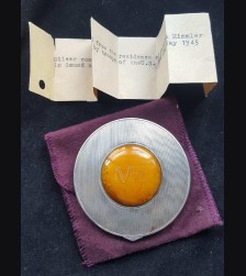 Margarete (Boden) Himmler Silver/Bernstein Compact .835 # 3436