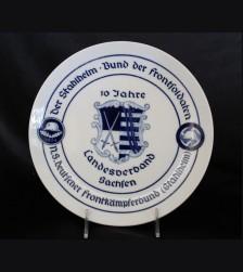 Meissen Stalhelm Plate for 1924- Landesverband Sachsen # 3440