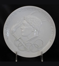 1936 Olympic Raised Relief Porcelain Plate # 3450